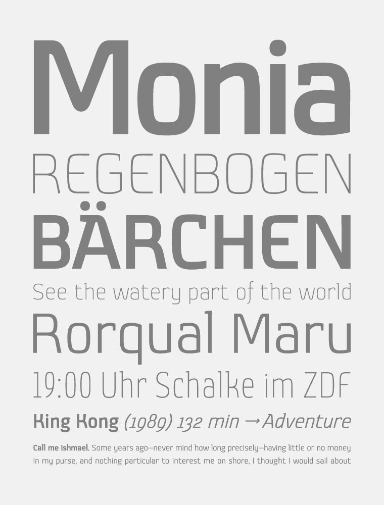 Monia Font Poster