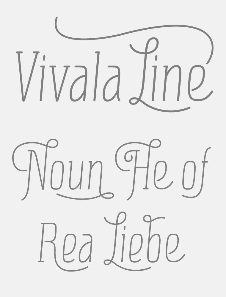 Vivala Line Poster