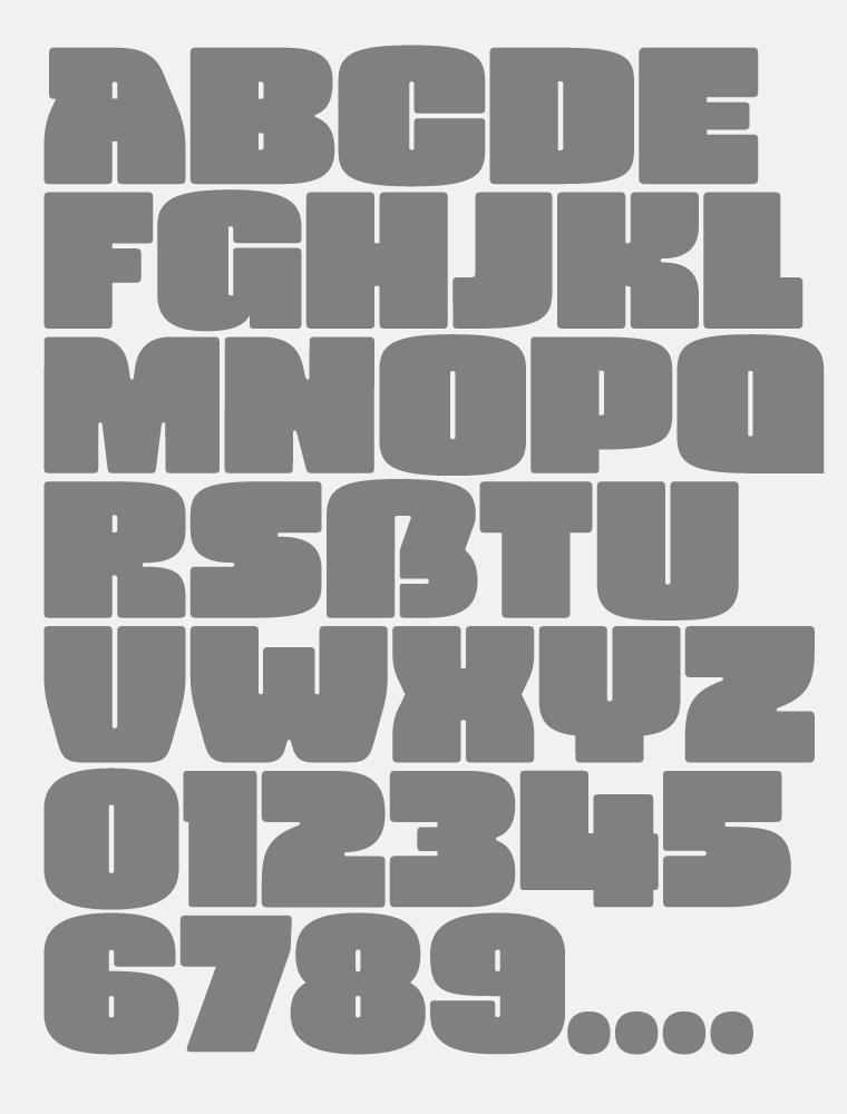 Vivala Black Font Poster