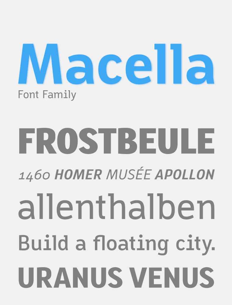 Macella Font Family